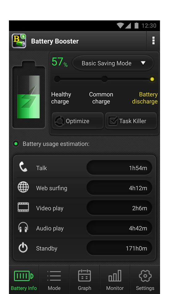Battery Usage Track